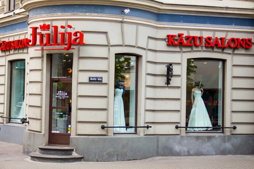 Wedding shop in Riga Julija
