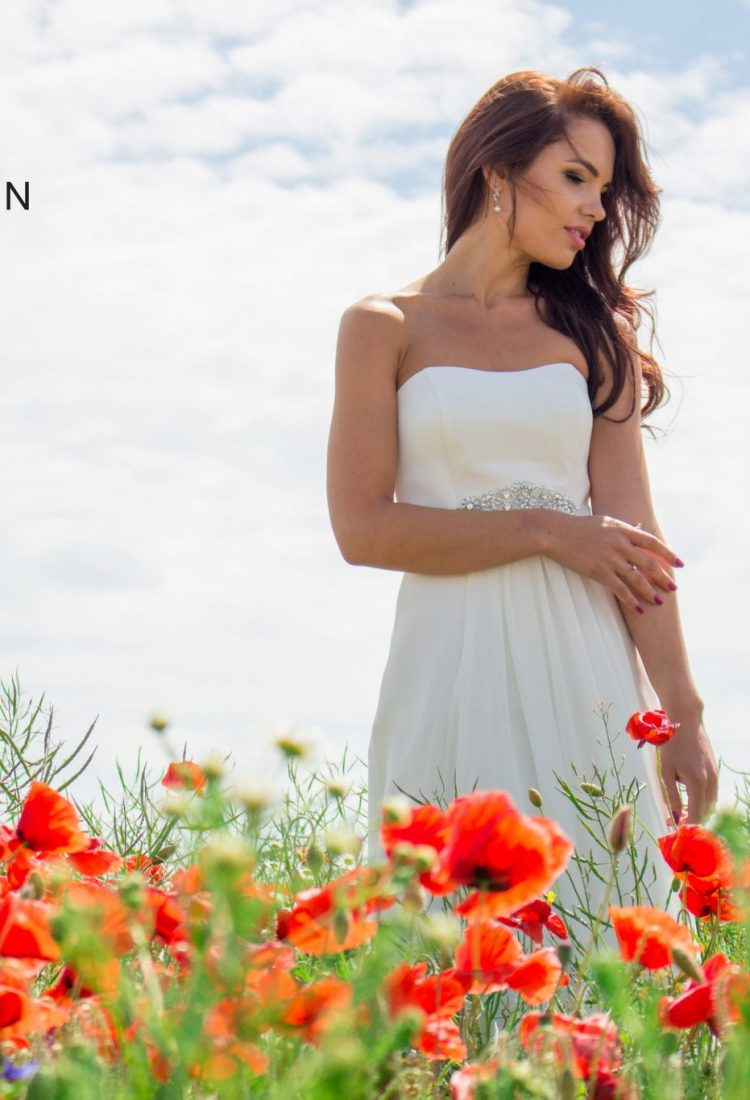 Modest, simple wedding dress