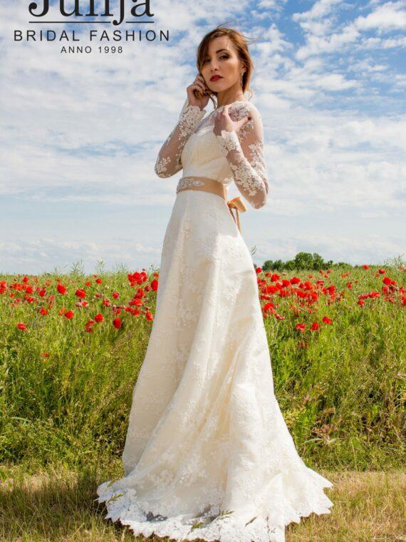 Lace simple wedding dress