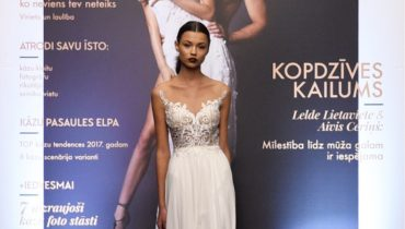 Runway show wedding dresses Julija Bridal Fashion Riga