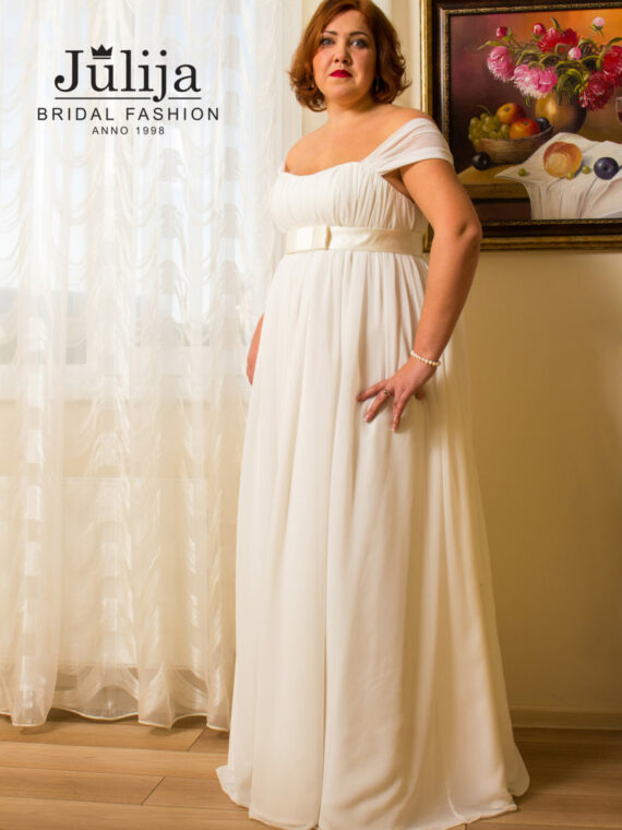 Chiffon plus size wedding dress