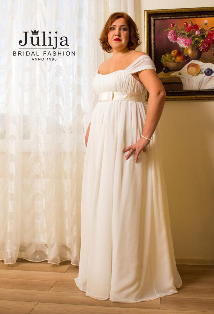 Chiffon plus size wedding dress