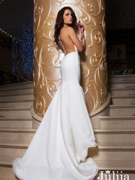 Illusion mermaid wedding dress