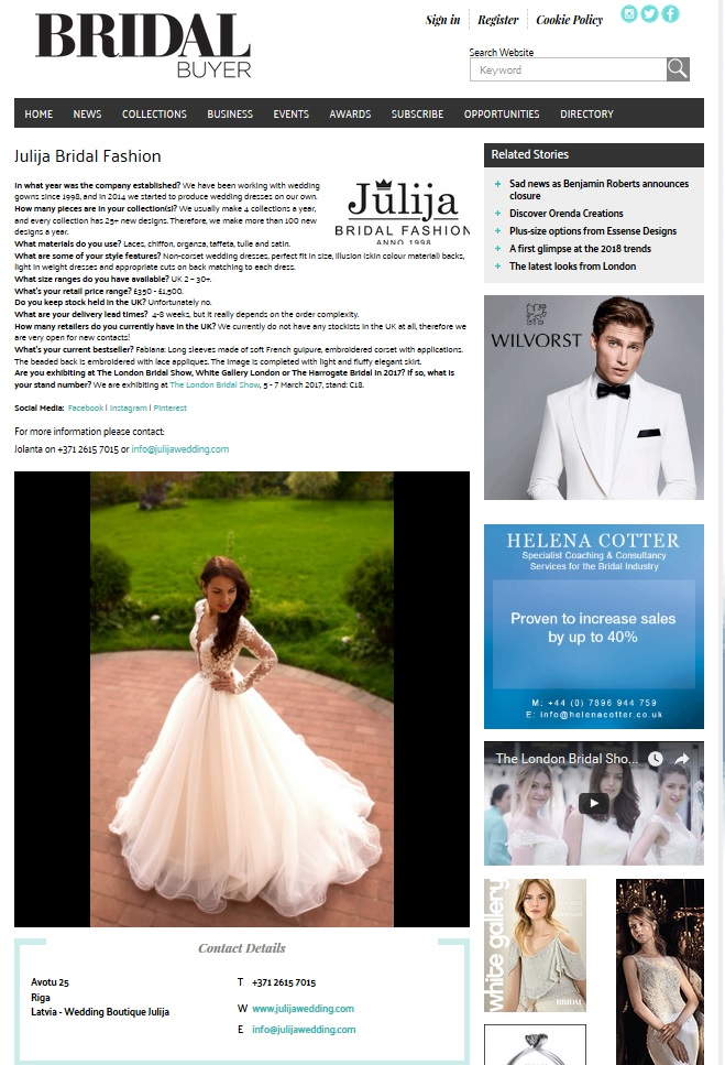 Bridal Buyer magazine 2017