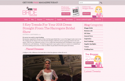 Julija Bridal Fashion featured in KissTheBride magazine
