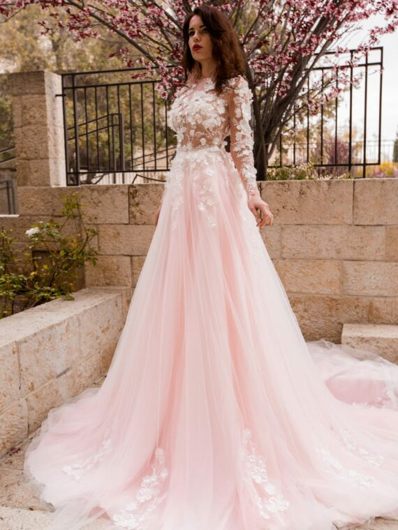Flower wedding dress
