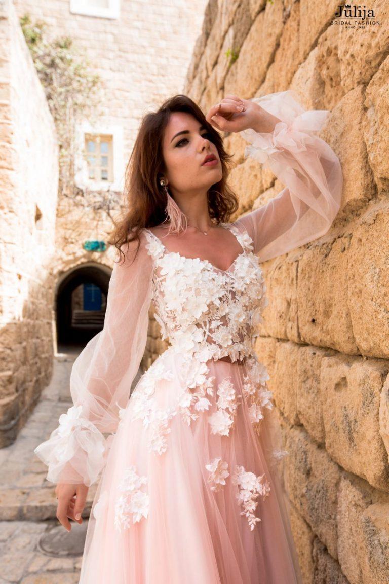 Flower bridal gown