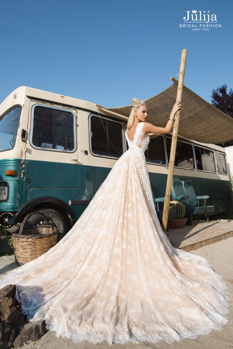 Boho, eco, wood, loft styles wedding dress 2019