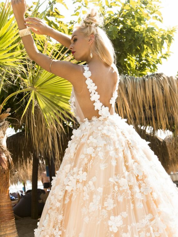 Boho, loft, wood wedding dress 2019